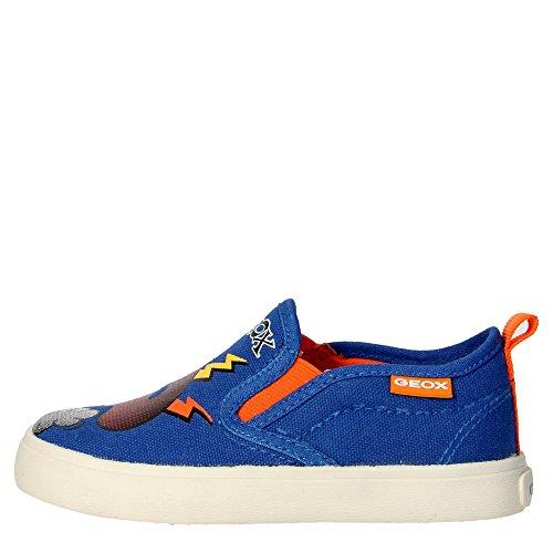 Geox J62A7D Slip-on Zapatos Boy Tejido Azul Claro Azul Claro 25