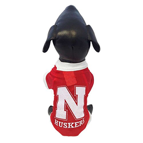 - NCAA Nebraska Cornhuskers Athletic Mesh Dog Jersey (Team Color, X-Small)