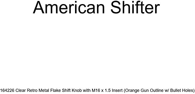 Orange Hook n Fish American Shifter 164496 Clear Retro Metal Flake Shift Knob with M16 x 1.5 Insert