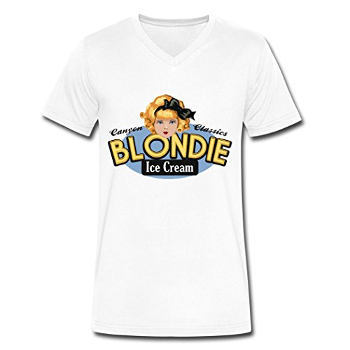 WBG DIY Blondie popular shirt tee shirt for men White XXL