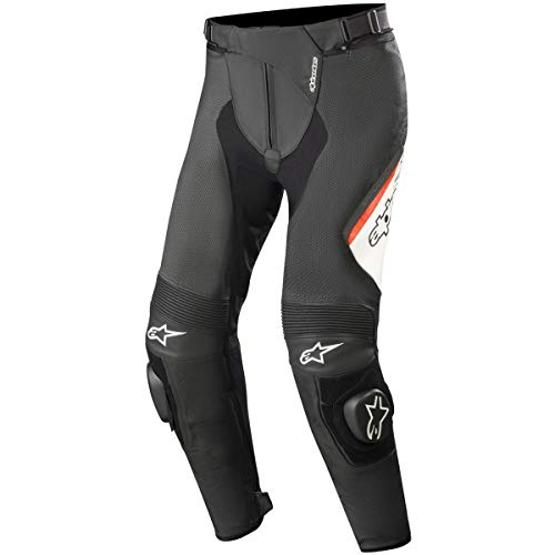 - Alpinestars Missile V2 Airflow Men's Street Motorcycle Pants - Black/White/Red / 52