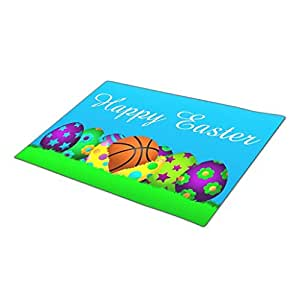 AbbyDay Monogrammed Door Mat Easter Ball Sport Outdoor Mats One size