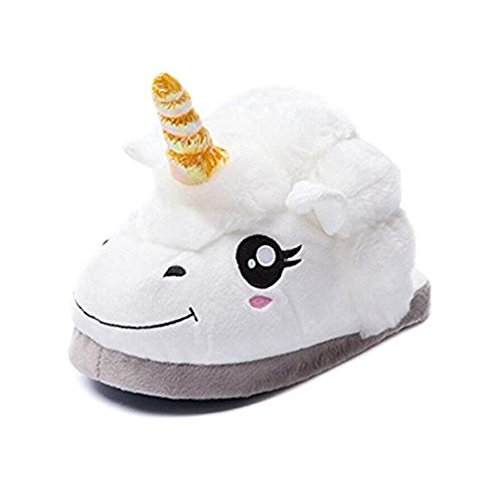 Hiver pour Licorne 36 Slippers Taille Chaussons Antiderapantes EU Femme Chaud Ammon Peluche Lowen wgYCqqF