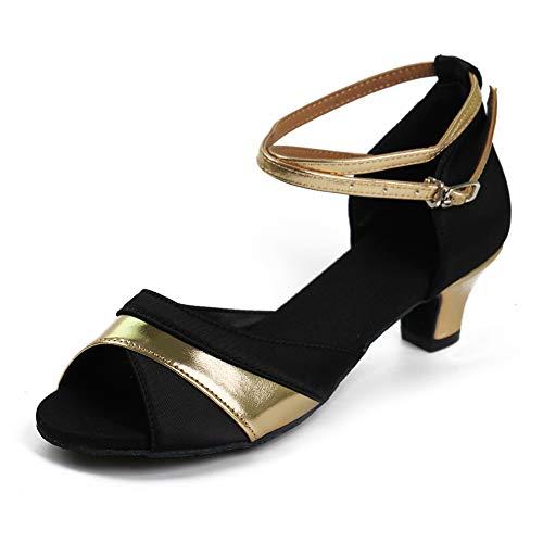 Cm Modelo Ceremonia De Hipposeus Boda Cm Bailetacón 7 Es806 Oro 4cm 4 Zapatos Baile Mujeres 5 Cm Cubano Latino R6qEwHqZ