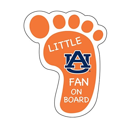 AUBURN TIGERS LITTLE FAN ON BOARD MAGNET-AUBURN UNIVERSITY FOOTPRINT MAGNET