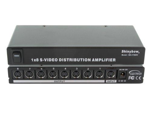 Shinybow S-video - Shinybow 1x8 (1:8) 8-Way S-Video (Y/C) Video Splitter Distribution Amplifier SB-3706SV