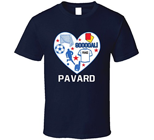 Benjamin Pavard Heart Mashup France World Cup 2018 Football Fan T Shirt M Navy
