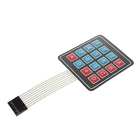 EXSZS Teclado de membrana de 4 * 4 Matrix Keyboard microcontrolador externo Keyboard: Amazon.es: Electrónica