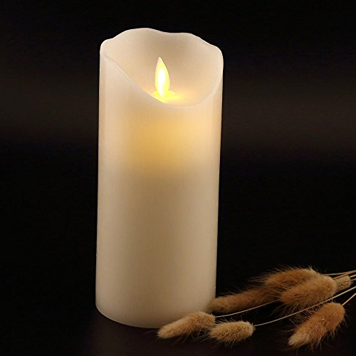 """Antizer Flameless Candles 7"""" Ivory Color Dripless Real Wax ..."""