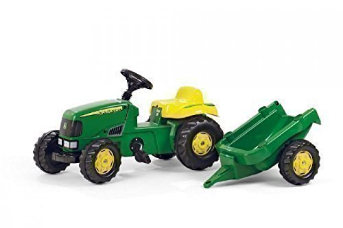 john deere rolly kids pedal tractor with trailer