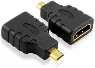 Alta velocidad Micro HDMI (tipo D) a HDMI (tipo A) – Adaptador para conectar LENOVO THINKPAD 10 Tablet a TV, HDTV, LCD, Plasma, Monitor con puerto HDMI adaptador – calidad Premium Gold –