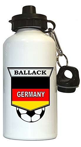 Michael Ballack (Germany) Soccer Water Bottle White