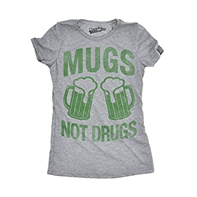 Womens Mugs Not Drugs Funny Irish Cheers Vintage St. Patrick's Day T shirt
