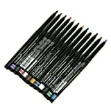Nabi Cosmetics Retractable Waterproof Eye Liner Pencil 12 Different Colors by Nabi Cosmetics