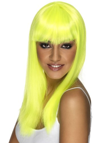 (One Size, yellow) - Glamourama - Adult Fancy Dress Wig: Amazon.es: Electrónica