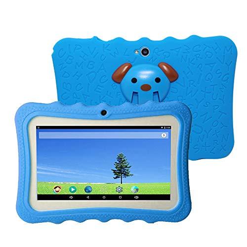 Docooler 7 Pulgadas Kids Tablet PC 8GB Quad-Core Wi-Fi Tablet PC Pad con Funda Protectora de Silicona a Prueba de Golpes…