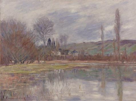 ポリエステルキャンバス、The Amazingアート装飾プリントキャンバスの油絵` Claude Monet–The Spring at Vetheuil、1881`、30x 40インチ/ 76x 103cm is bestガレージのギャラリーアートとホームギャラリーアートとギフトの商品画像