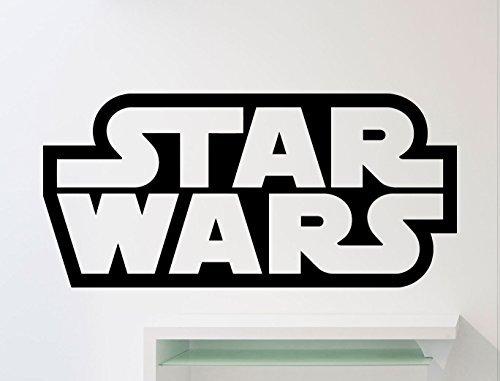 Star Wars Logo Wall Decal Star Wars Emblem Word Movies Vinyl Sticker Home Nursery Kids Boy Girl Room Interior Art Decoration Any Room Mural Waterproof Vinyl Sticker (262xx)