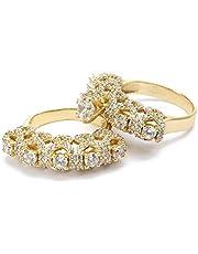 خاتم زفاف الماس وزركونيا مكعب عيار 18 من دار (DAR273)