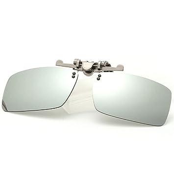KOMNY La miopía con Clips de Aluminio y magnesio se Puede Voltear al revés Gafas de