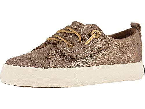 SPERRY Girls' Crest Vibe Jr Sneaker Bronze Sparkle 9.5 M US Toddler