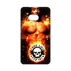 3D Print 2Pac&Tupac Shakur&Lesane Parish Crooks&Makaveli Background Case Cover for HTC ONE M7- Personalized Cell Phone Protective Hard case Shell