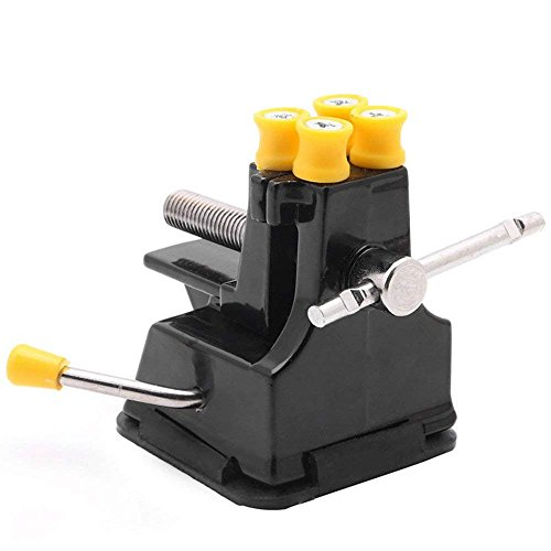RayLineDo Mini Table Suction Vise Drill Press Vise Walnut Clamp Table Bench Vice for Jewelry Nuclear Clip and DIY Craft Review