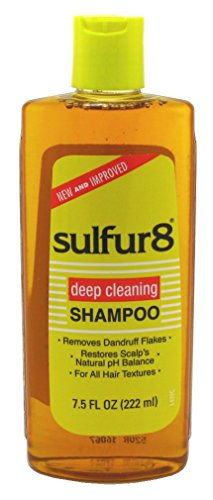 Sulfur8 Deep Cleaning Shampoo for Dandruff, 7.5 Oz (Pack of 3) Deep Cleaning Hair Shampoo