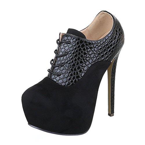 Stiefel Ital Design Schwarz Chelsea Damen qWSgzZ