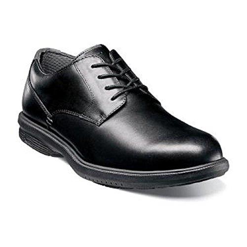 Nunn Bush Men's Marvin Street Plain Toe Oxford, Black, 9.5 W ()