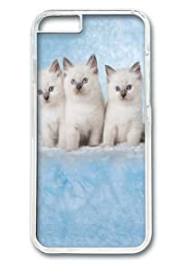 Cloud Kittens PC Case Cover for iphone 6 plus and iphone 6 plus 5.5 inch Transparent