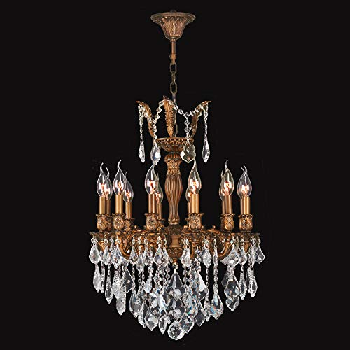 Versailles Crystal Twelve Light - Worldwide Lighting Versailles Collection 12 Light French Gold Finish and Clear Crystal Chandelier 20