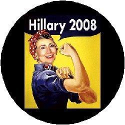 HILLARY 2008 Political Pinback Button 1.25
