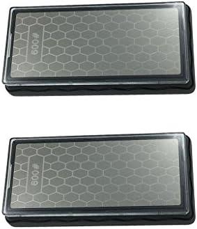 joyMerit 2ピース/個ダイヤモンドコーティング600/1200#グリット両面研ぎキッチンシャープナー