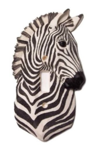 ZEBRA SAFARI Single light SWITCH PLATE COVER switchplate lighting home - Ceramic Decor Home Switchplate Light