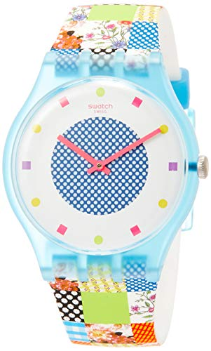 Swatch Originals Quilted Time White Dial Silicone Strap Unisex Watch SUOS108
