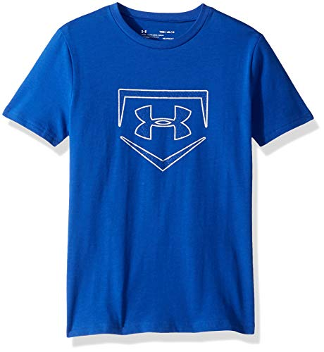 Under Armour Boys IL Graphic S/Plate Icon, Royal (400)/Metallic Silver, Youth Large