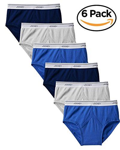 Jockey Mens Classic Low-rise Brief 6 Pack Underwear Briefs 100/% cotton
