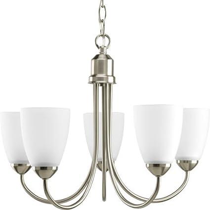 progress lighting p4441 09 gather collection 5 light chandelier
