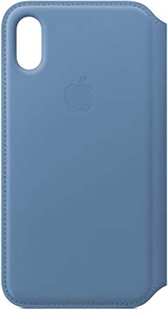 Funda Leather Folio (para el iPhone XS) - Azul Aciano