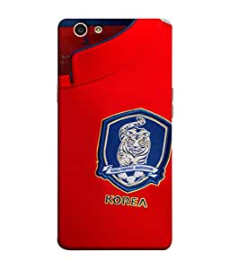 ColorKing Football South Korea 03 Red shell case cover for OPPO F1S