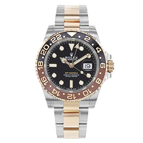 - Rolex GMT-Master II Black Dial Automatic Stainless Steel and 18kt Rose Gold 126711CHNR