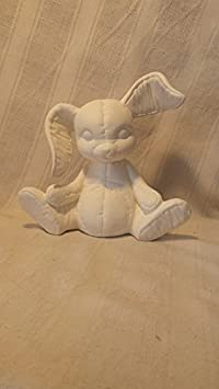 Ceramic Bisque Ready to Paint New Year/'s Bunny Rabbit January Calendar
