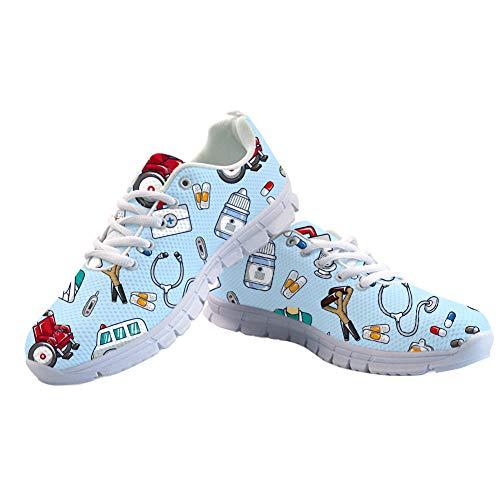 Pied Course 5 Femme Spring Nurse Pour Infirmière Coloranimal Sneakers Appartements Pattern Marche À Summer 1wnORY1qx8