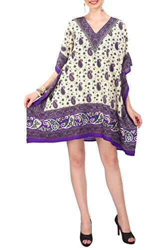 Kaftan Tunic Kimono Dress Summer Evening Plus Size Beach Cover Up 10 -24