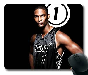 Chris Bosh Miami Heat Super Star NBA Sports Mouse Pad/Mouse Mat Rectangle by ieasycenter