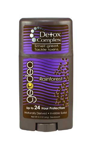 Geo Deo Natural Plus Detox Complex Invisible Solid Deodoant, Rainforest, 2.3 Ounce