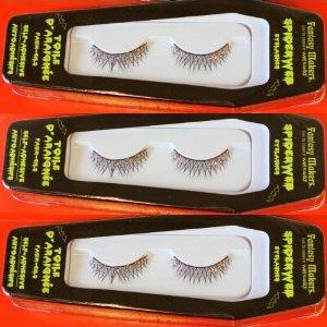 [Halloween Fantasy Maker Ultra Long Black Eyelashes Self Adhesive Spiderweb 11108] (Spider Web Eye Makeup)