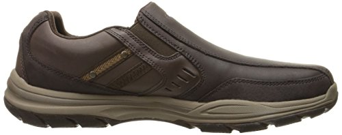 Skechers USA Uomo Elment Brencen Slip-on Loafer, marrone scuro