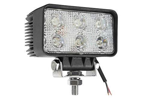 18 Watt LED Flood Light – 1400 Lumens – Six 3-Watt LEDs – 10-32 Volt DC – IP67 Waterproof Review